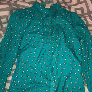 This blue bird button up shirt :)